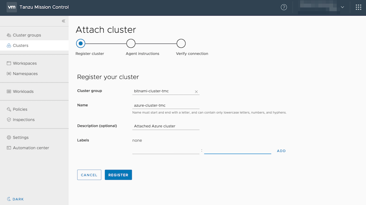 Attach cluster