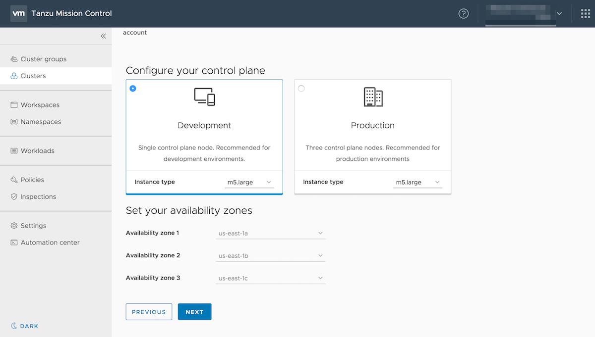 Configure control plane