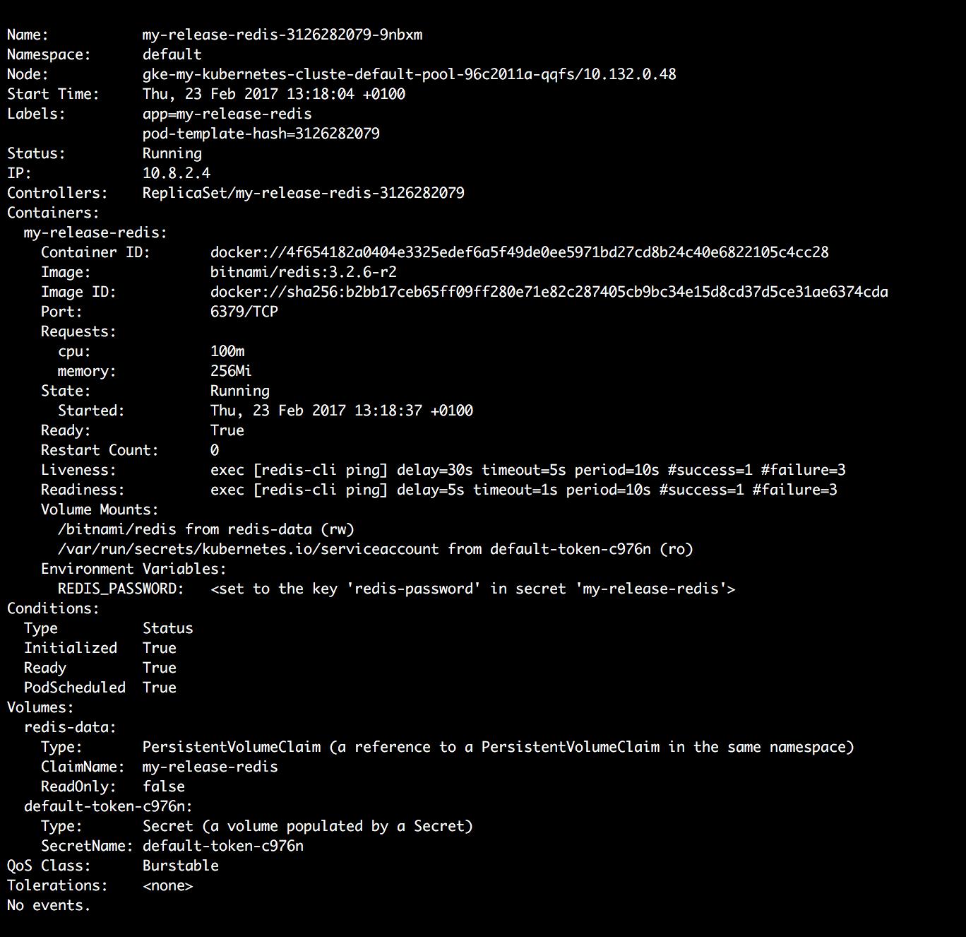 Check Kubernetes node info