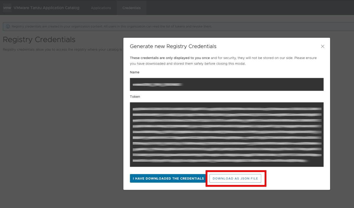 Registry credentials
