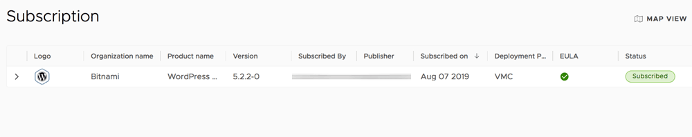 Check the status of the subscription