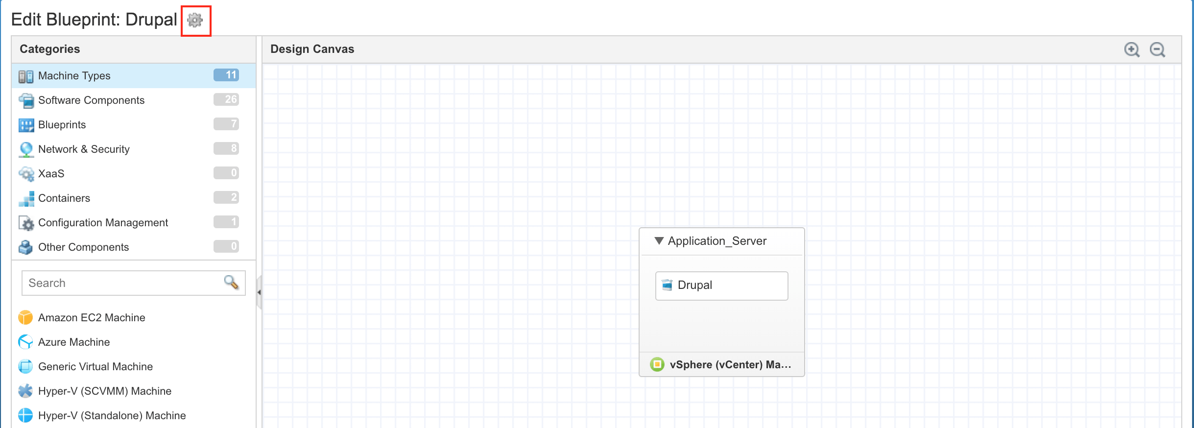 Set the blueprint template parameters