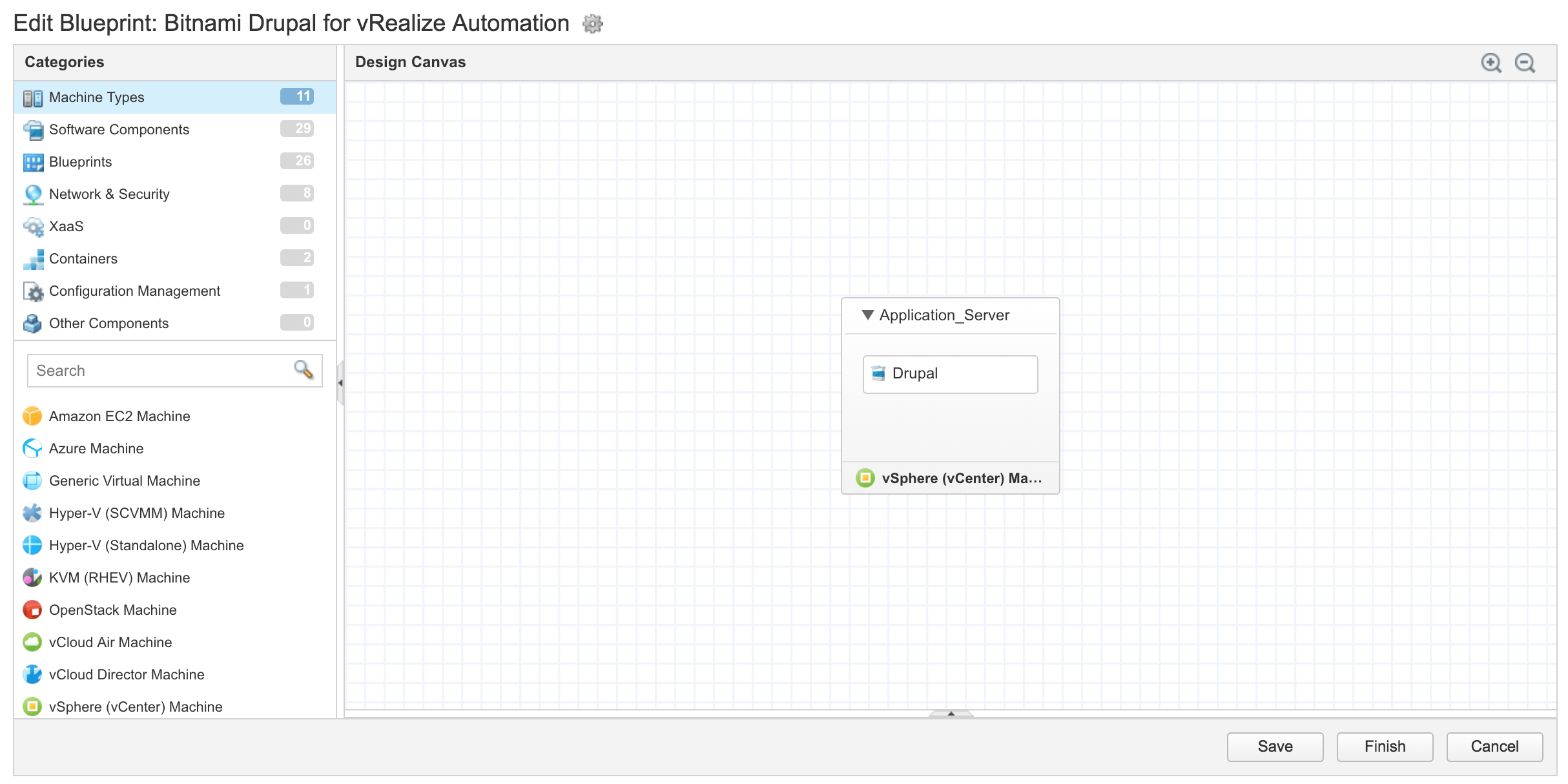 Get started with bitnami blueprints on vmware vrealize automation design canvas view malvernweather