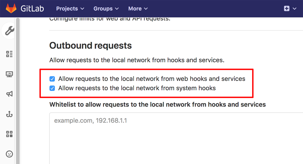 GitLab network requests