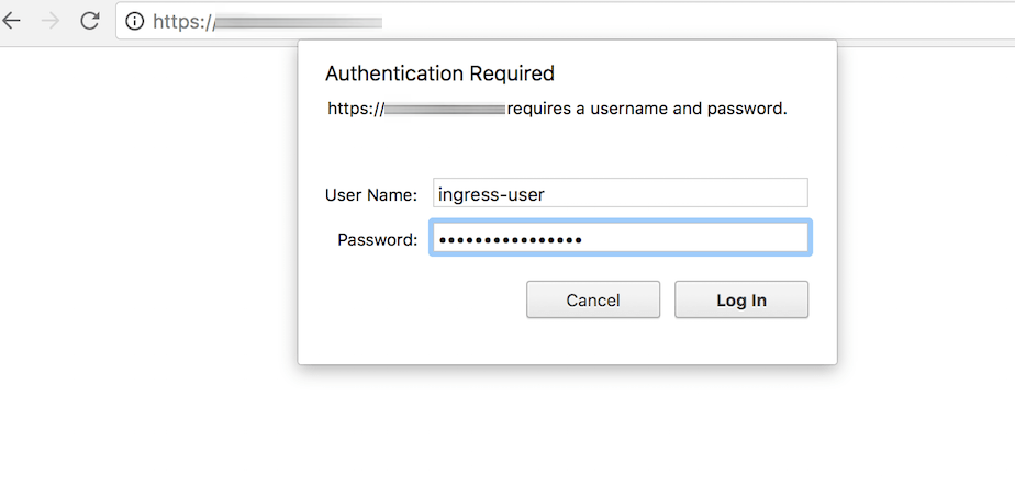 Basic authentication prompt