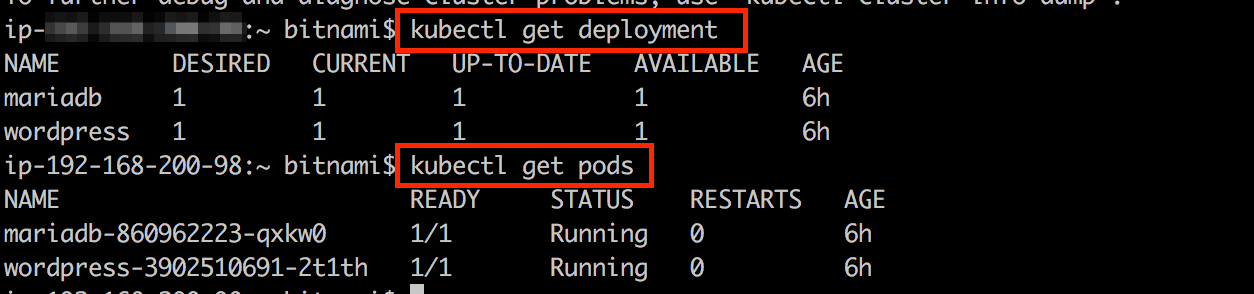 Check Kubernetes deployment and pods