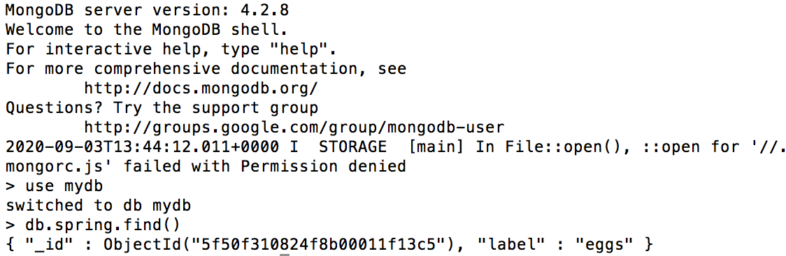 MongoDB query results
